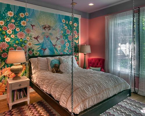 少女卧室墙绘图案
