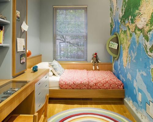 孩子们的卧室手绘墙图片