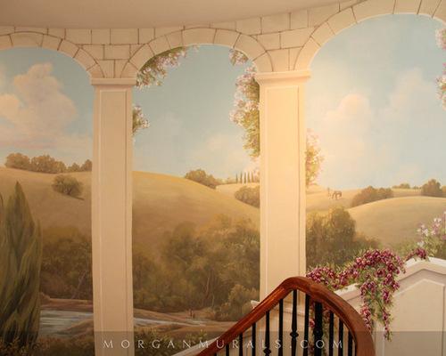 意大利乡村风景手绘墙