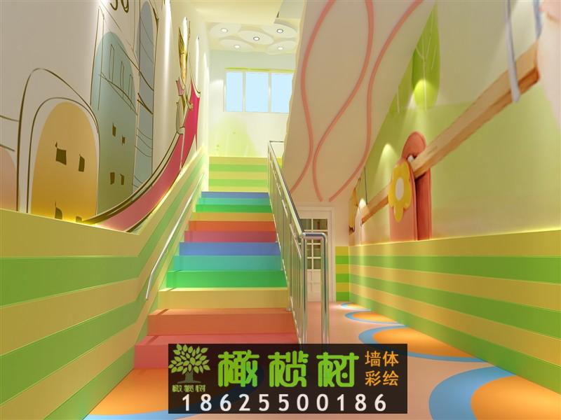 幼儿园楼梯间设计效果图