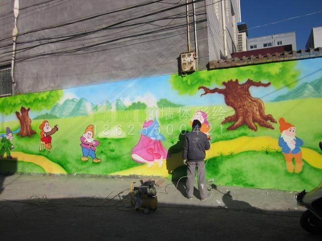 洛阳洛宁县东方幼儿园彩绘案例