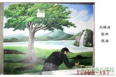 精美墙体彩绘风景画素材