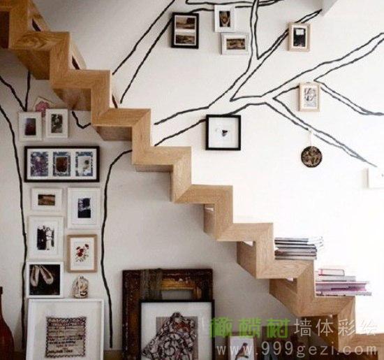 极尽创意的楼梯墙体彩绘