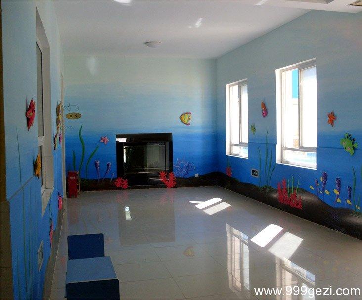 幼儿园教室海底世界卡通图片