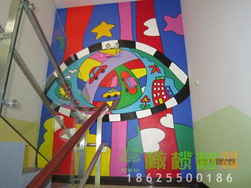 幼儿园楼体彩绘设计