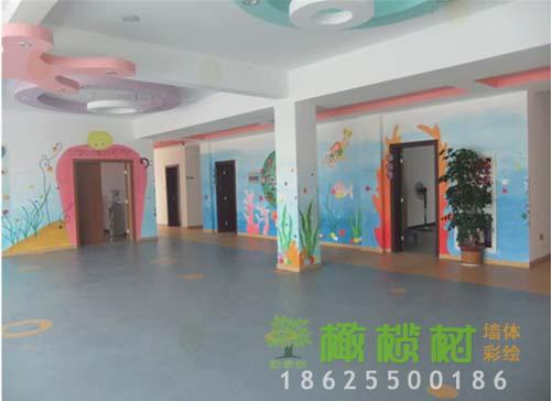 幼儿园大厅墙体喷画