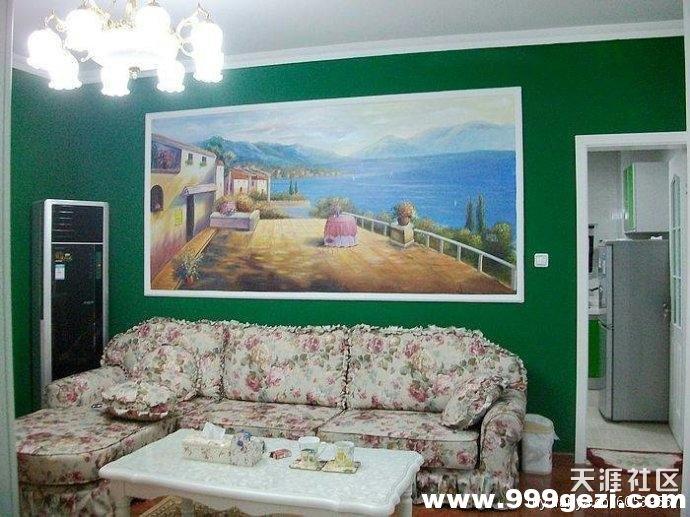 大幅地中海墙体彩绘