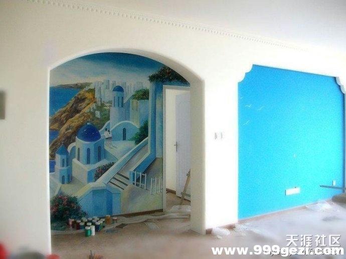 走廊过道适合画什么类型的手绘墙