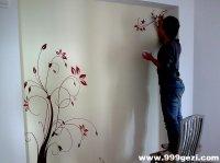 电视背景墙花卉图案