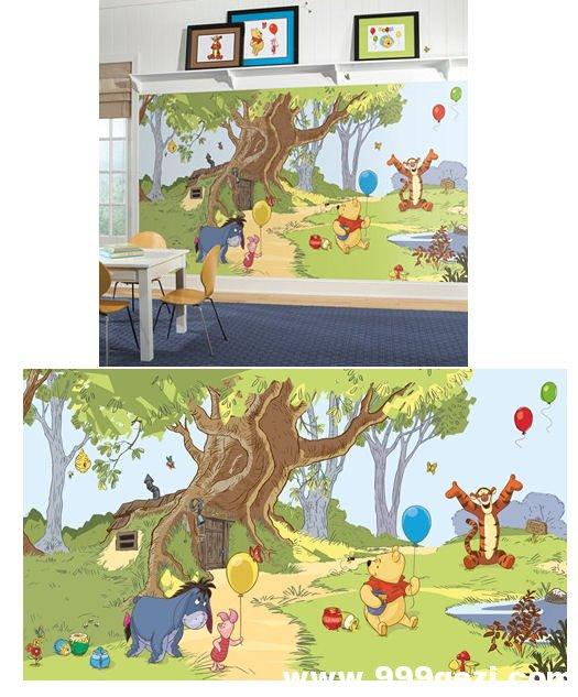 维尼小熊跳跳虎室内彩绘