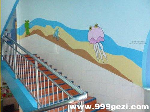 幼儿园楼梯彩绘2