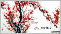 梅花手绘墙素材图片 墙绘素材图片梅花