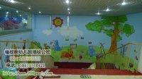 幼儿园教师彩绘 大树太阳维尼熊和跳跳虎