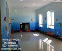 幼儿园室内海底世界图案 鱼珊瑚礁