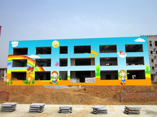 新密幼儿园墙体彩绘