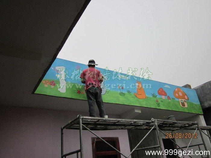 洛阳嵩县闫庄春蕾幼儿园彩绘案例